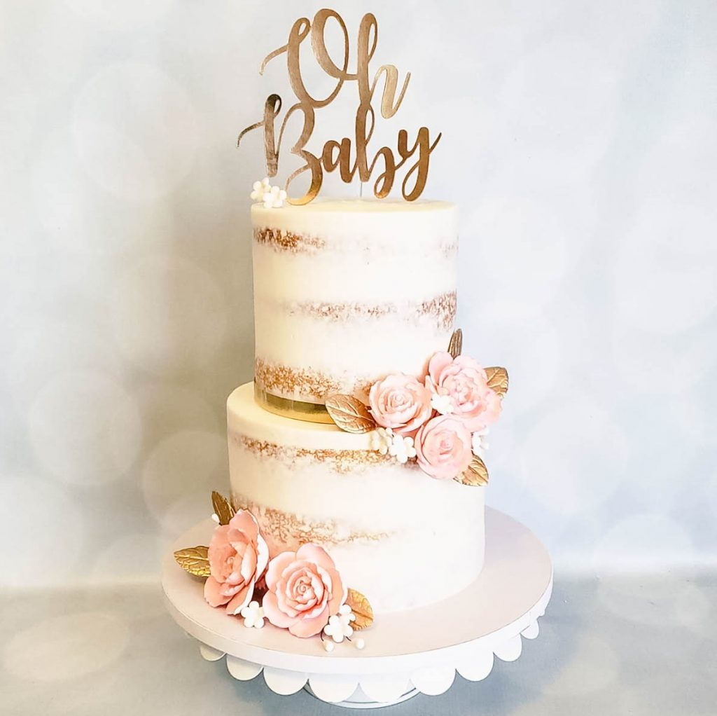 Semi Naked Girl Baby Shower Cake