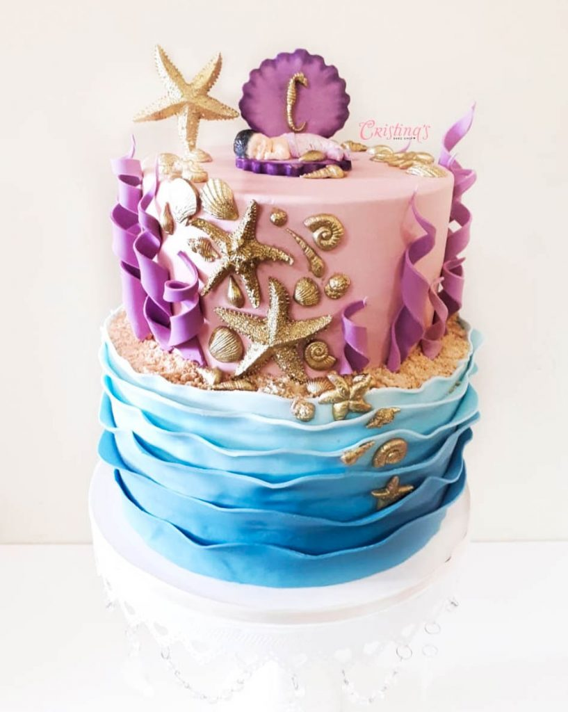 Stunning Mermaid Baby Shower Cake