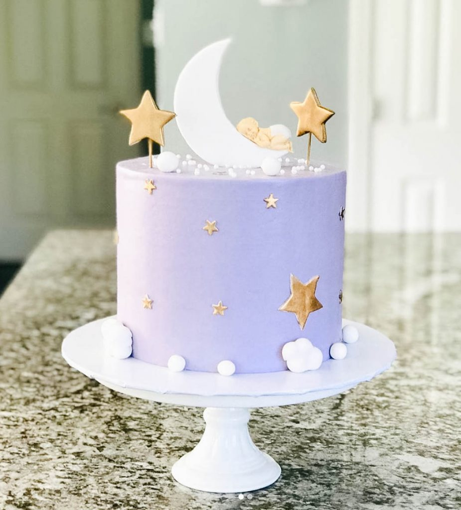 Sweet Lavender Baby Girl Shower Cake