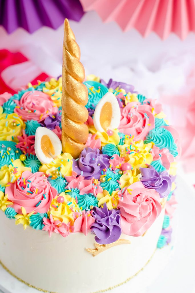 Unicorn Top Birthday Cake