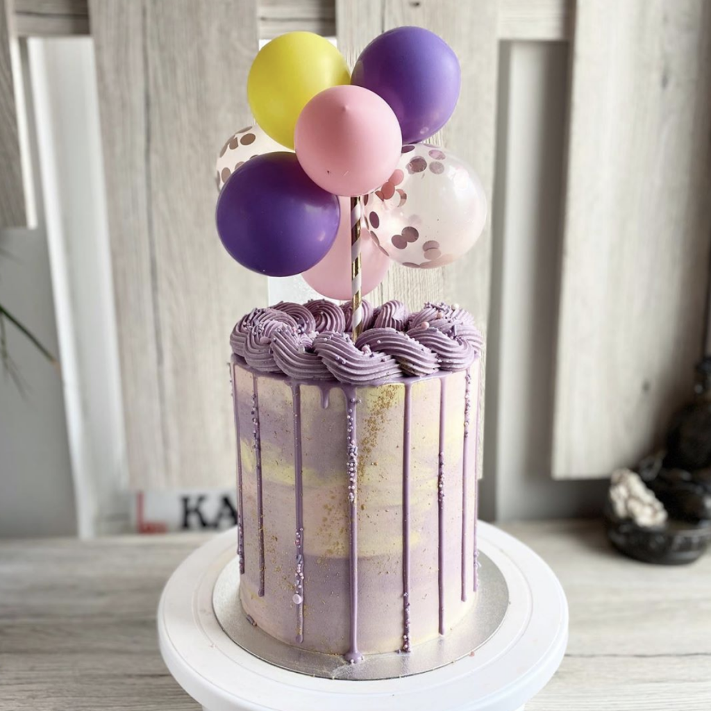 Pastel Watercolor First Birthday Cake