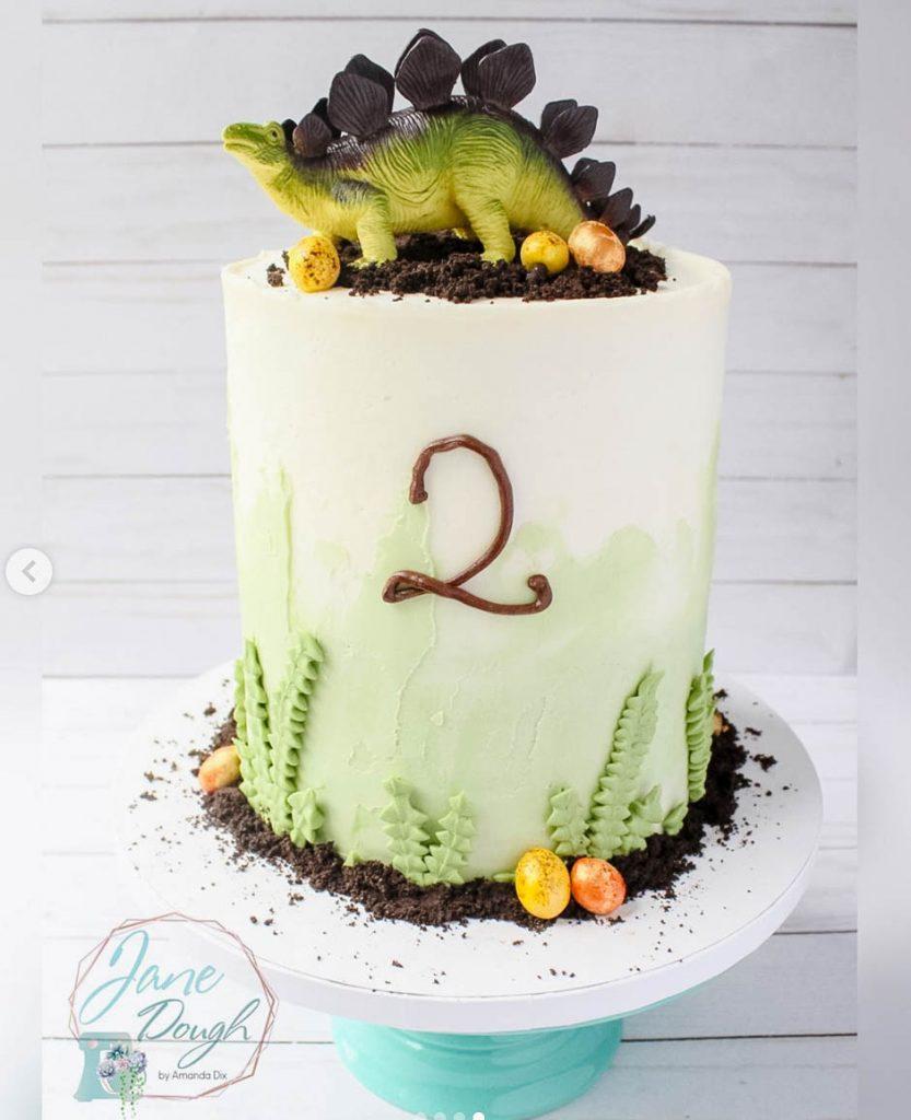 Adorable Dinosaur Cake