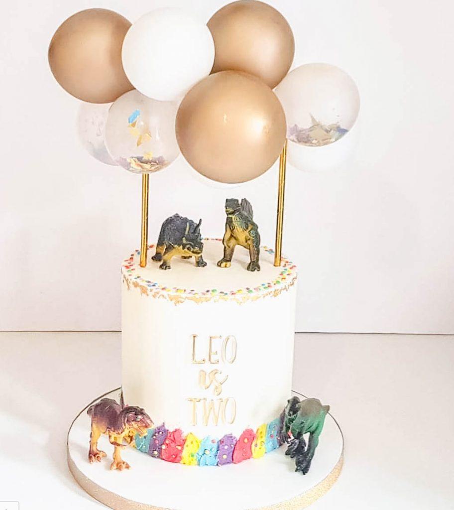 Dinosaur Balloon Cake