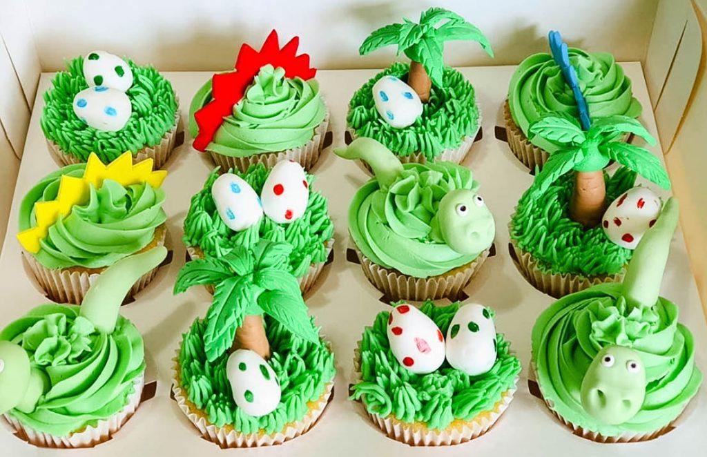 Birthday Dinosaur Cupcakes