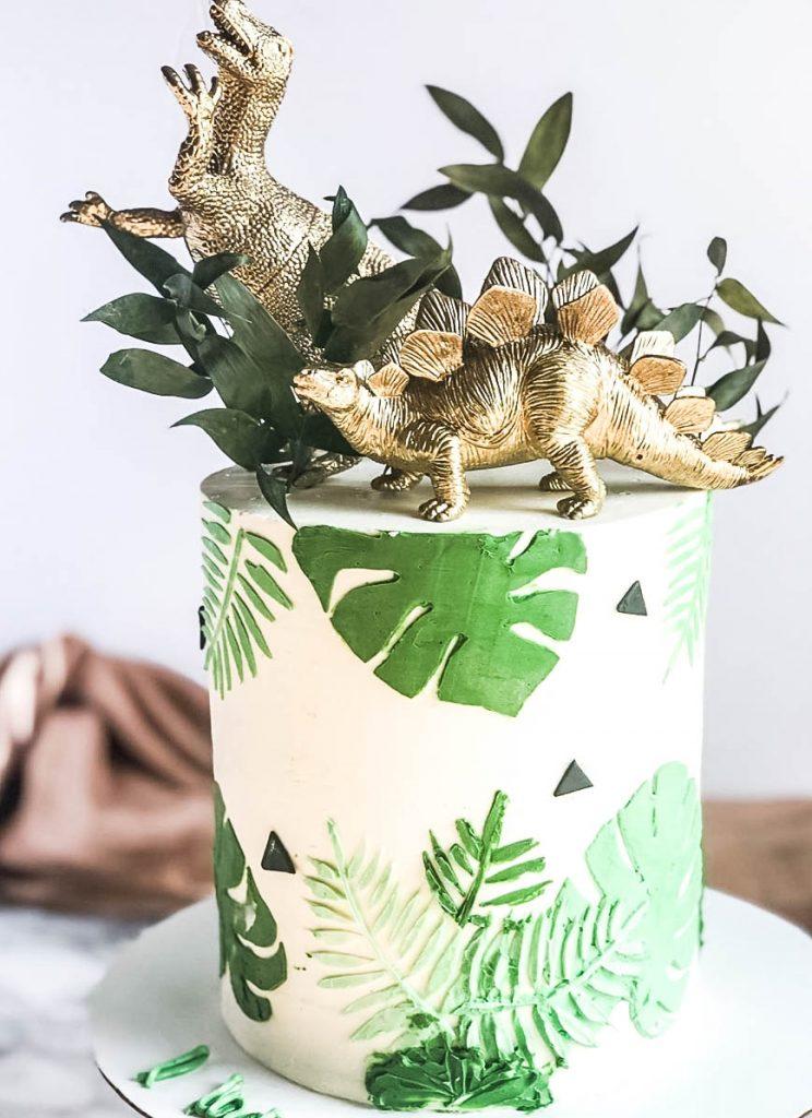 Tropical Dinosaur Cake