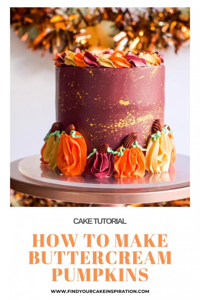 How to Make Cute Buttercream Pumpkins
