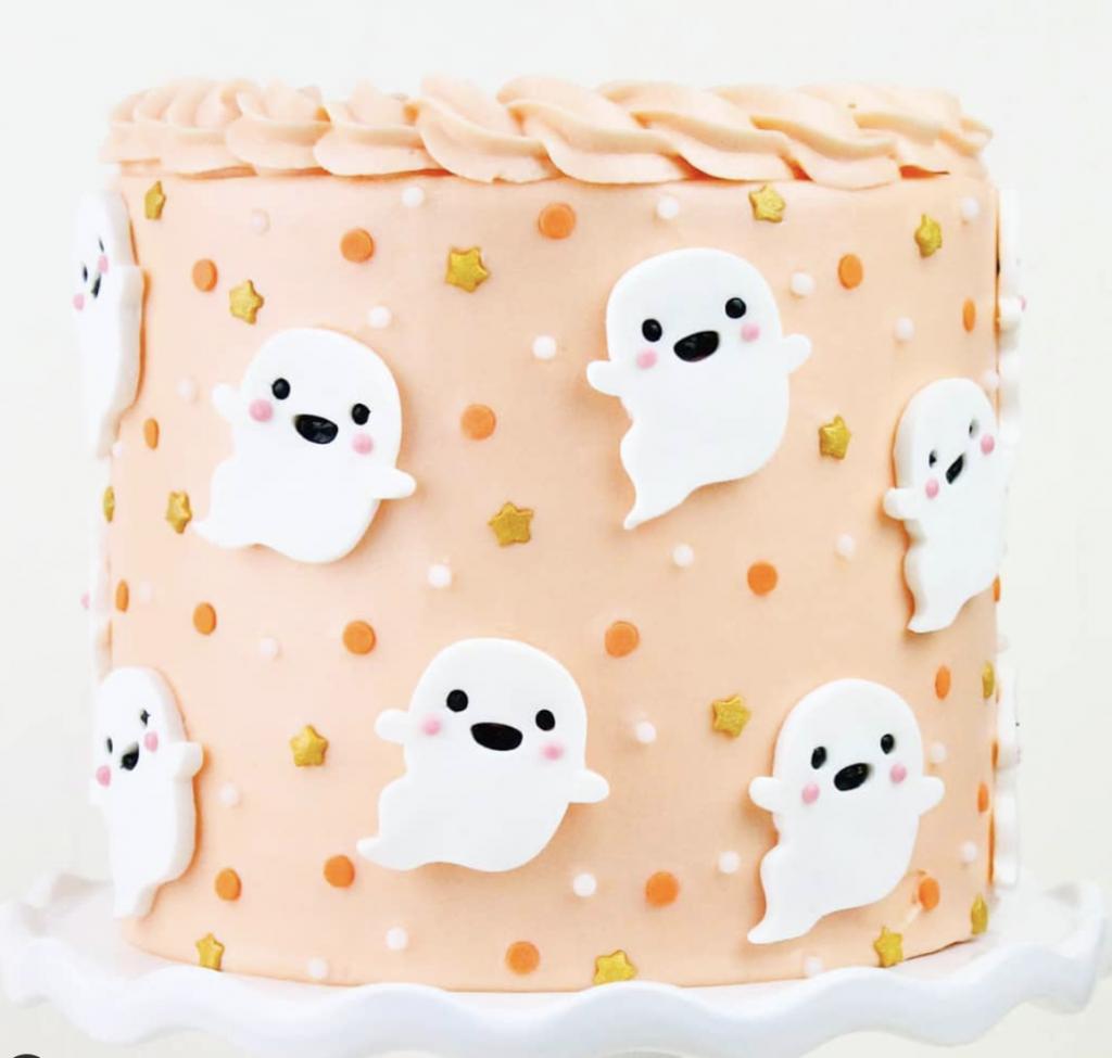 Cutesy Ghost Cake
