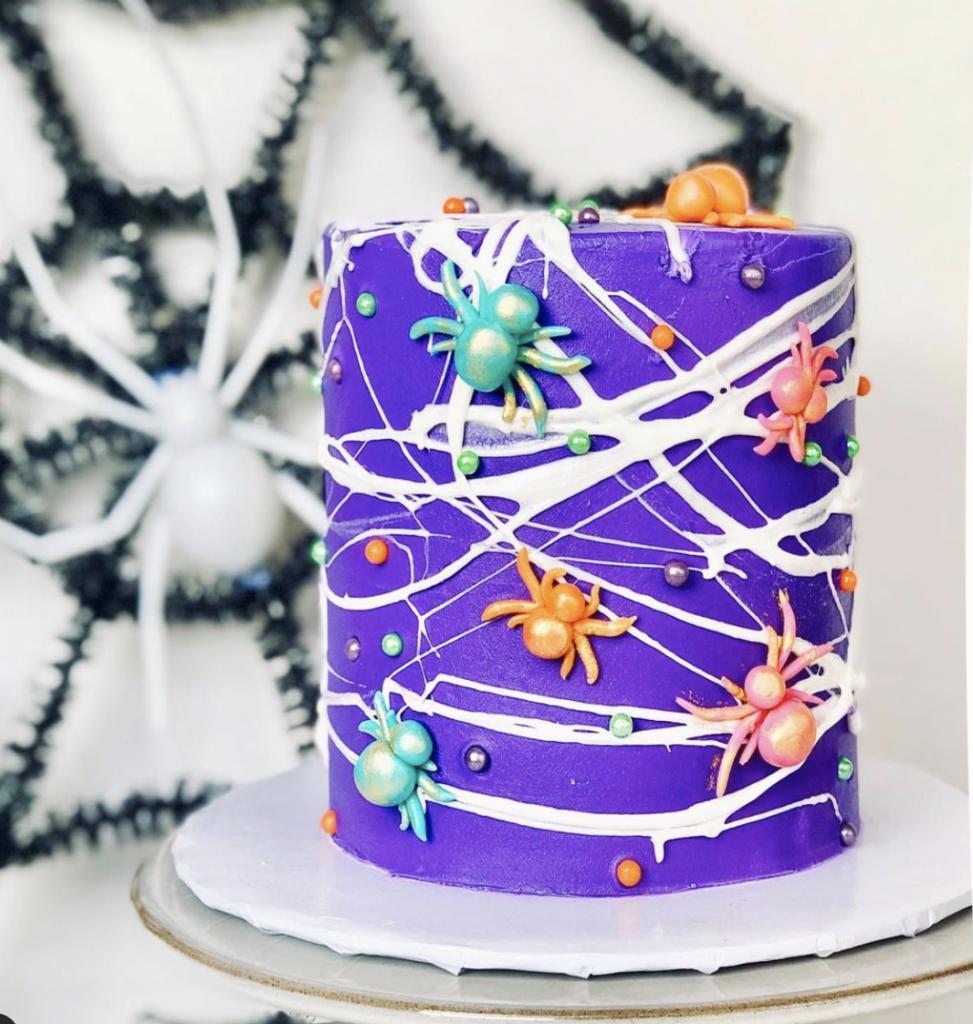 Halloween Spider Webbed Cake