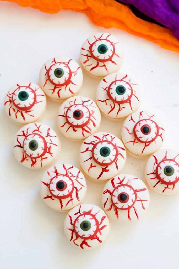 Bloody Eyeball Macarons