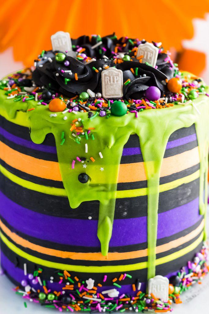 Halloween Striped Cake