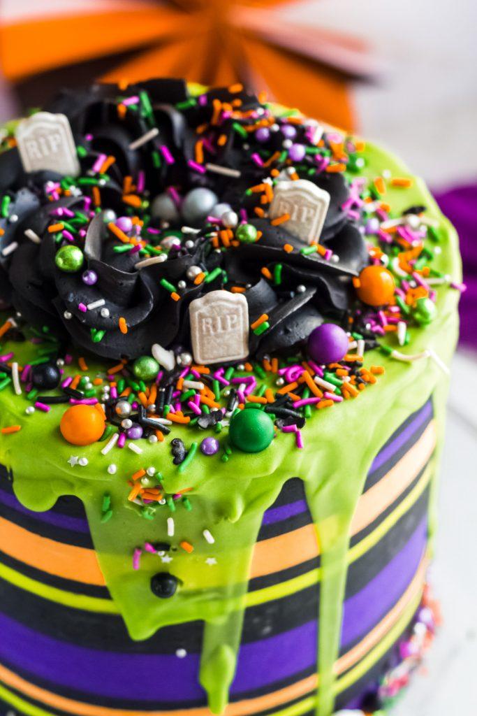 Top View Halloween Cake