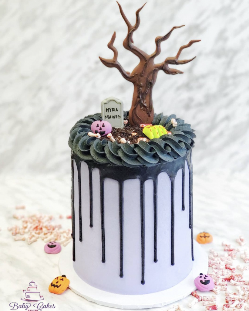 Spooky Tree Halloween Cake