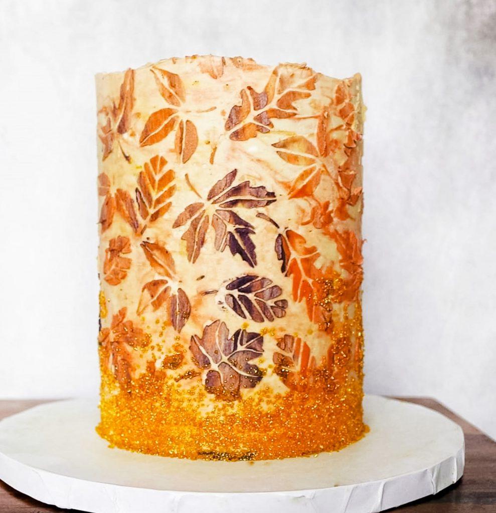 Falling Leaves Cake