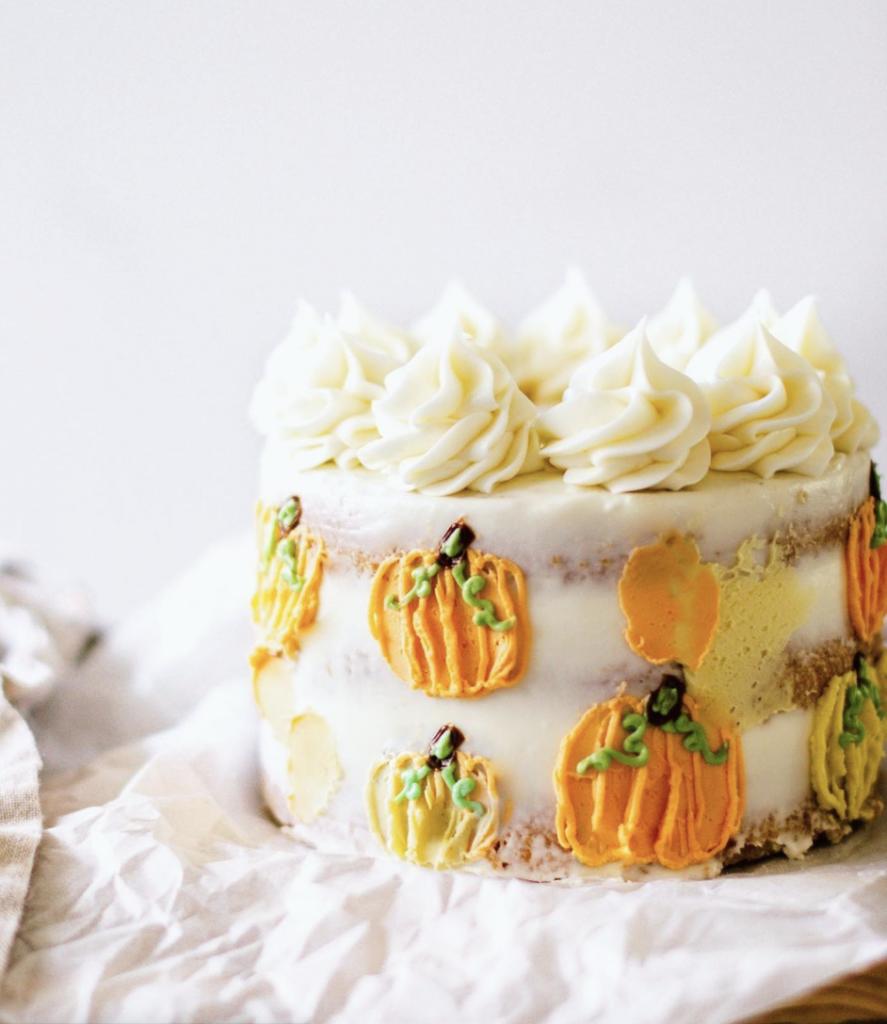 Pumpkin Palette Knife Cake