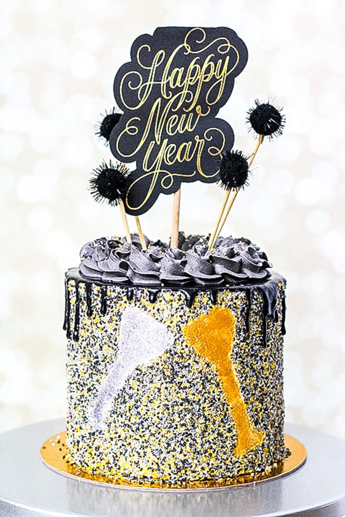 Champagne Sprinkle Cake