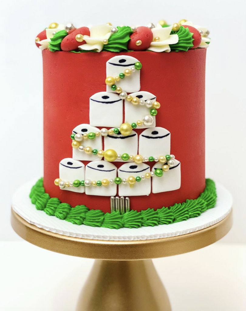 Christmas Toilet Paper Cake