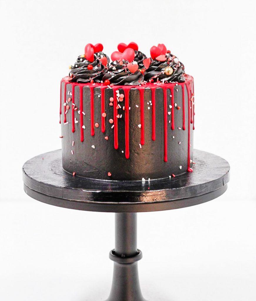 Black & Red Love Cake