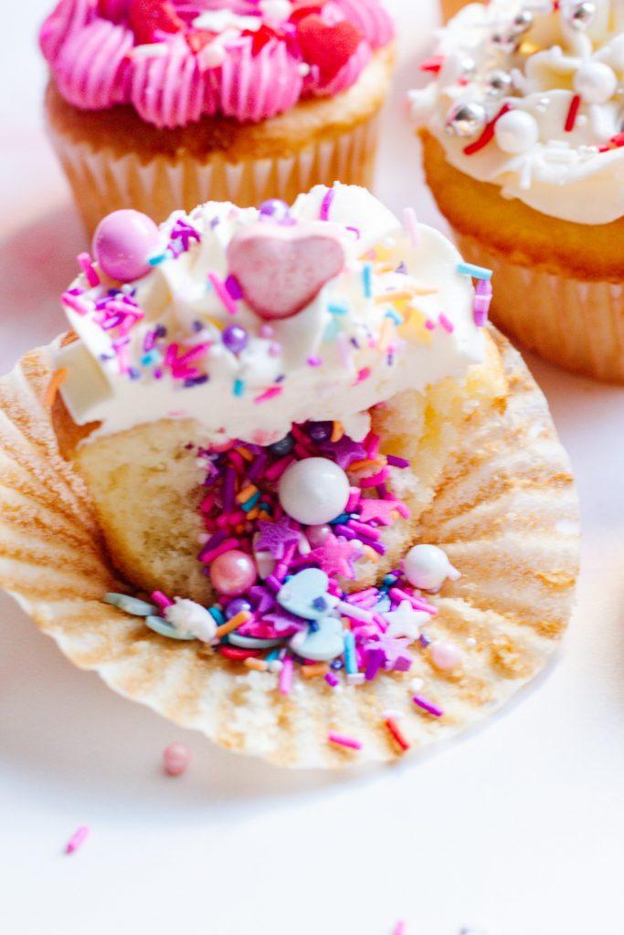 Valentine's Day Sprinkles Cupcake