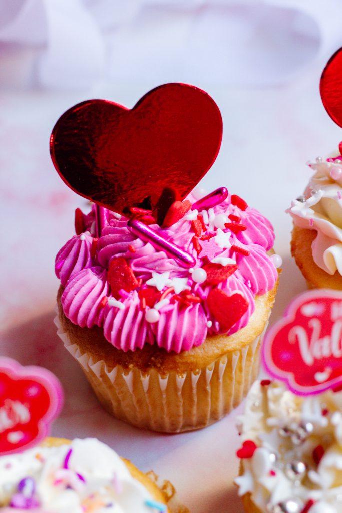 Valentine's Day Heart Cupcake