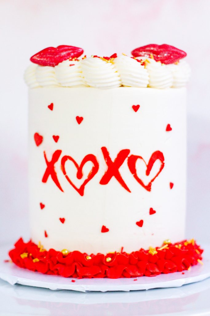 Hugs & Kisses Cake