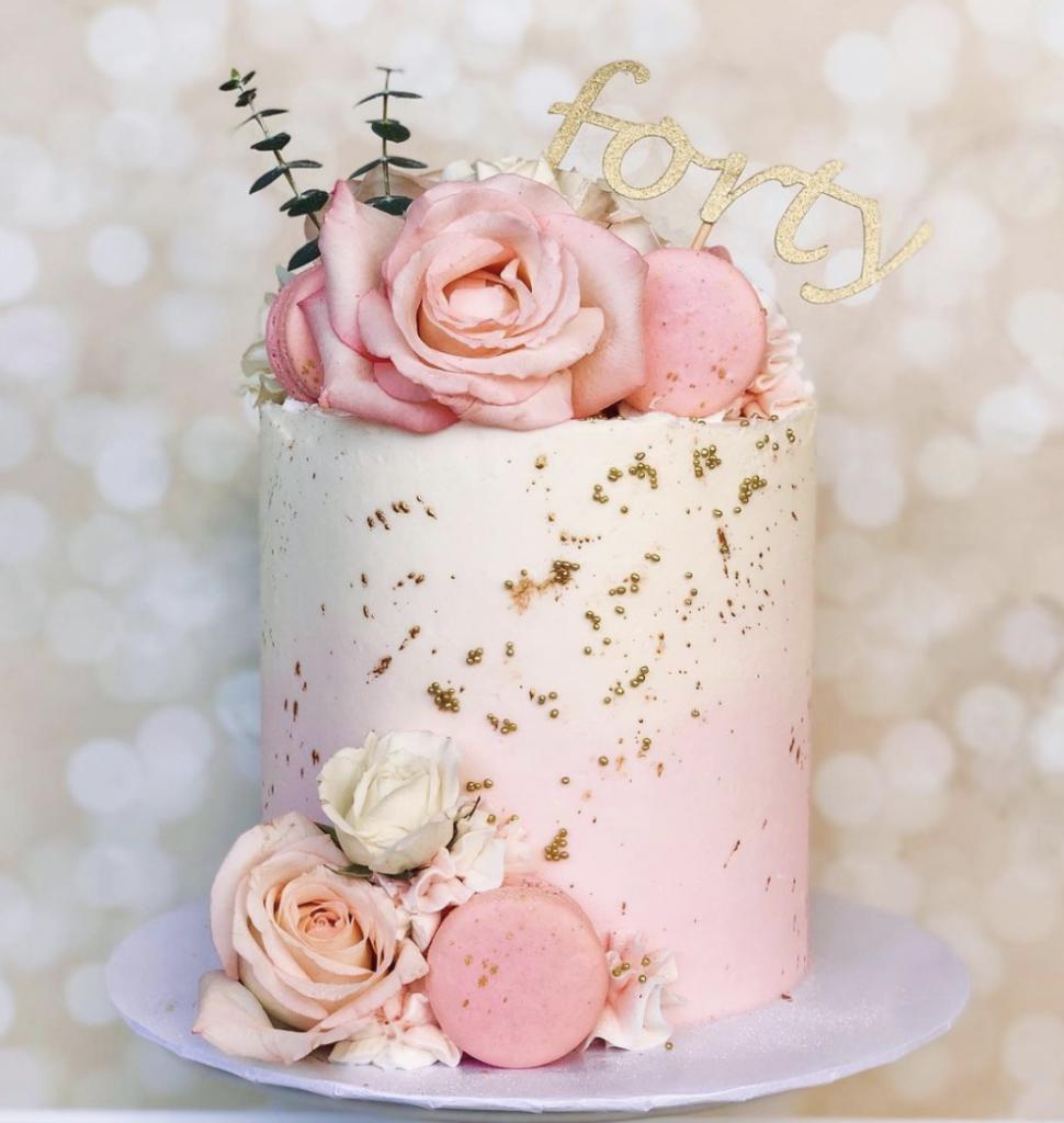 Ombre 40th Birthday Cake