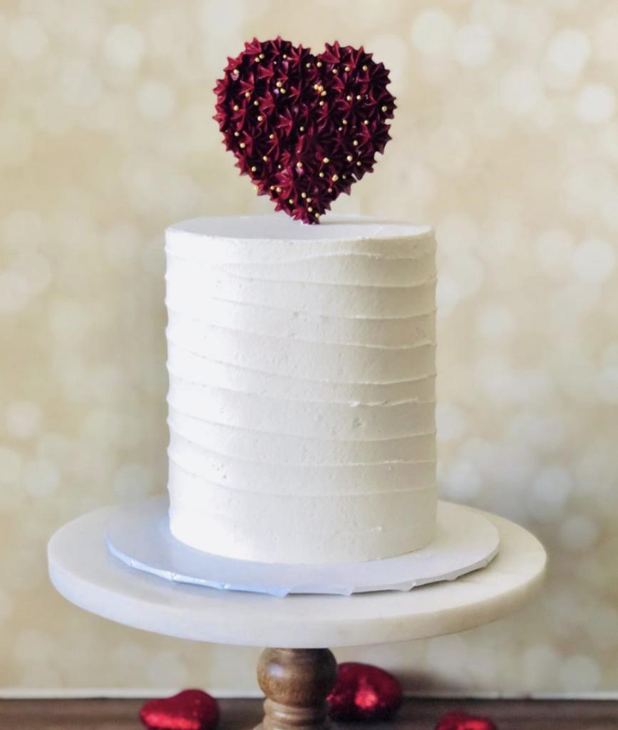 Simple Heart Cake