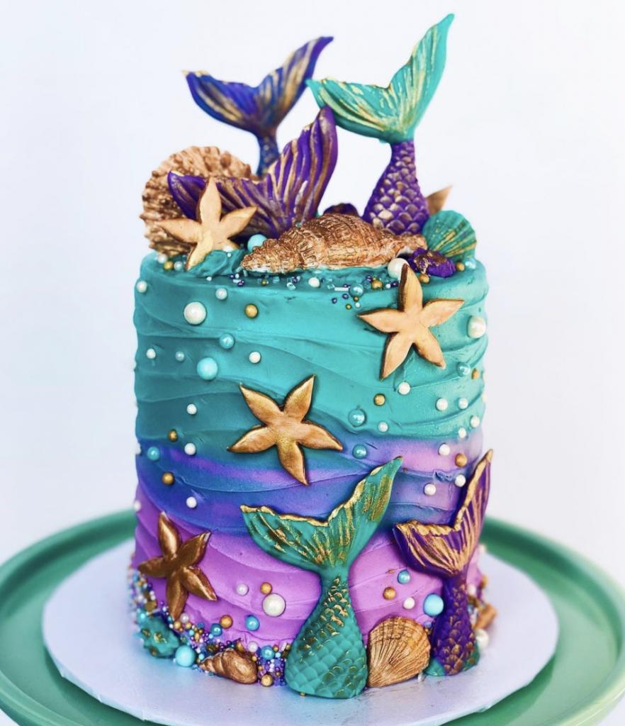 Vibrant Mermaid Cake