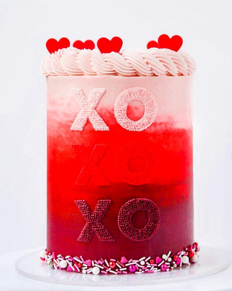XOXO Ombre Cake