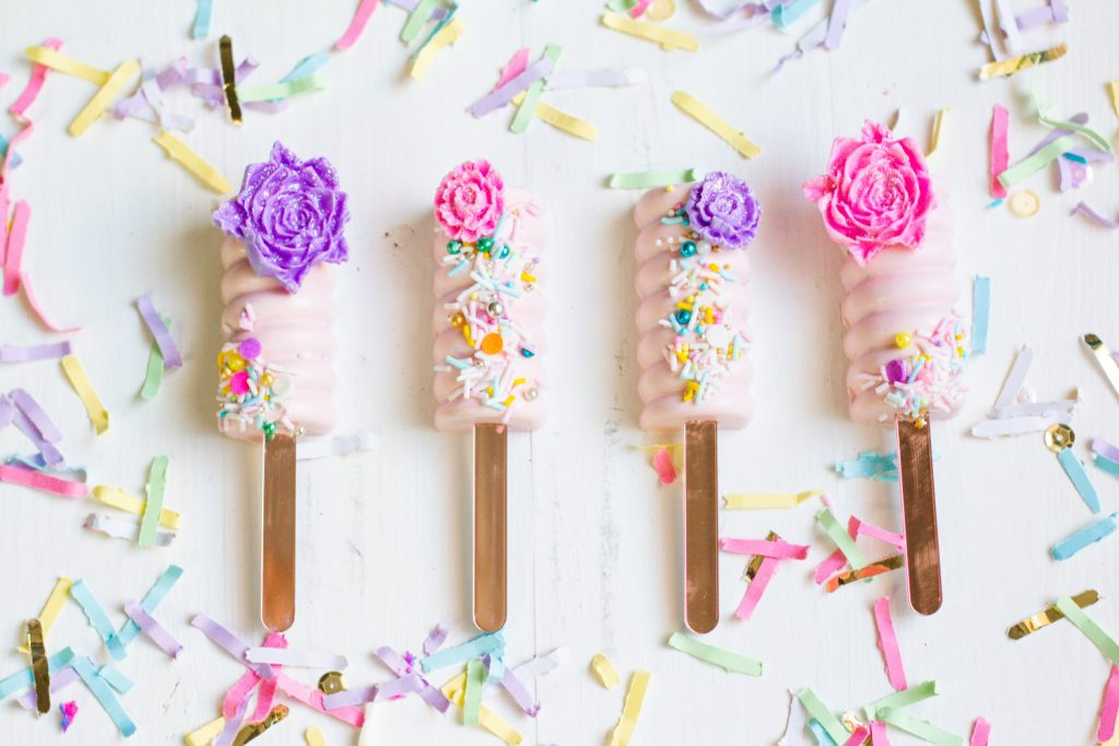 Spring Blooms Cakesicles Flatlay