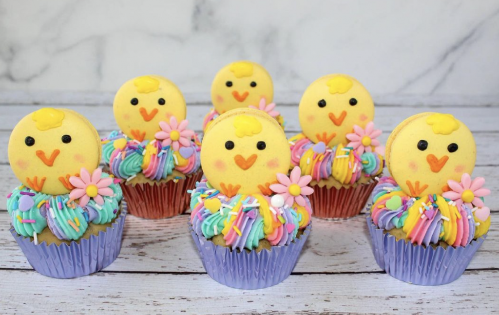 Baby Chicks Easter Cupcakes