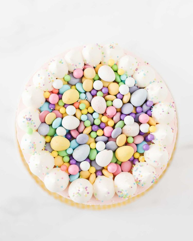 Bunny Tail Top with Candy Eggs