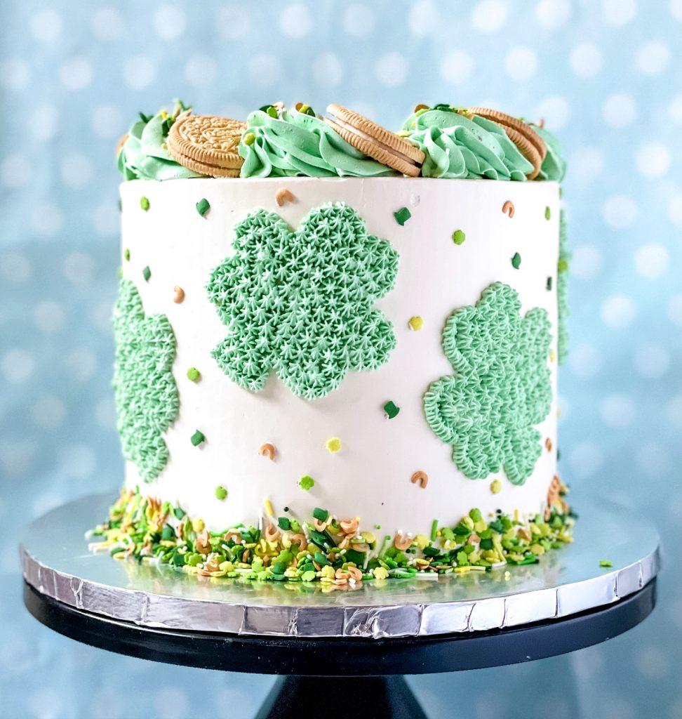 Buttercream Shamrock Cake