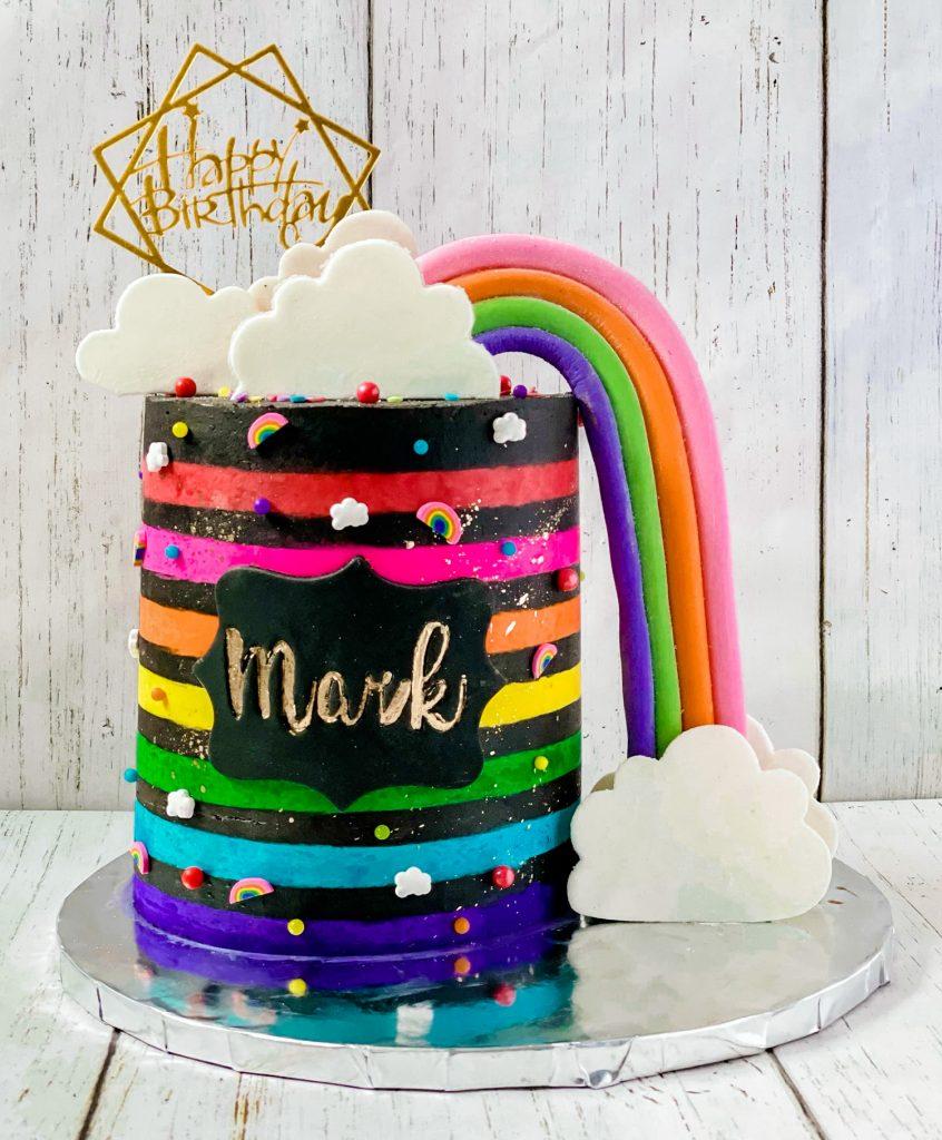Neon Rainbow Cake