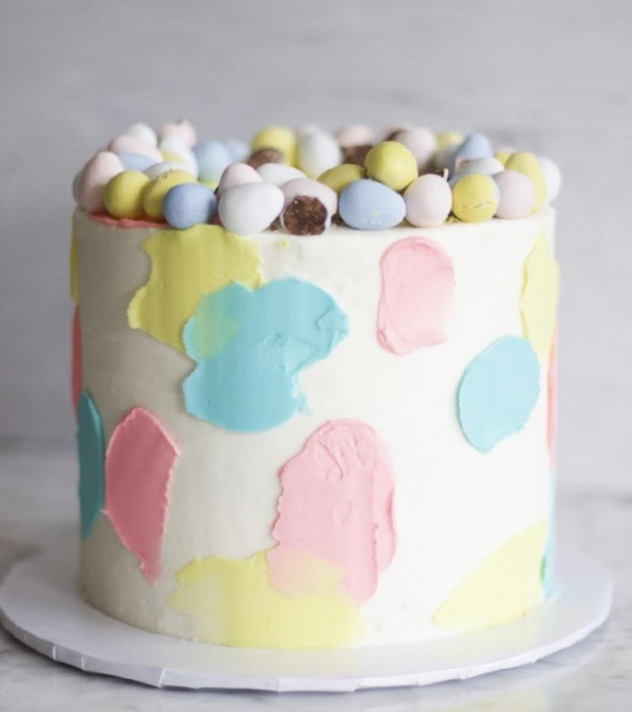 Pastel Easter Egg Cake