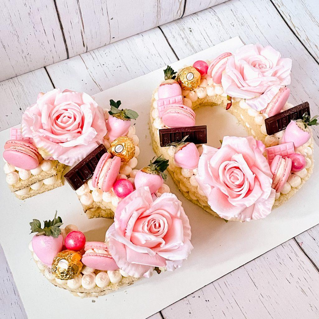 Pink Letter Cake
