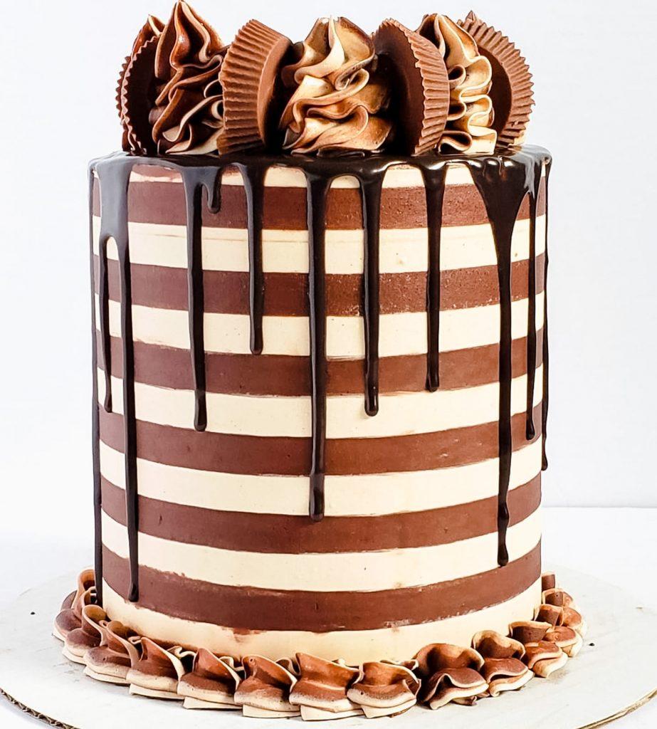 Reese Striped Cake