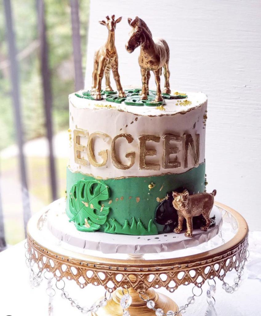 Golden Safari Cake