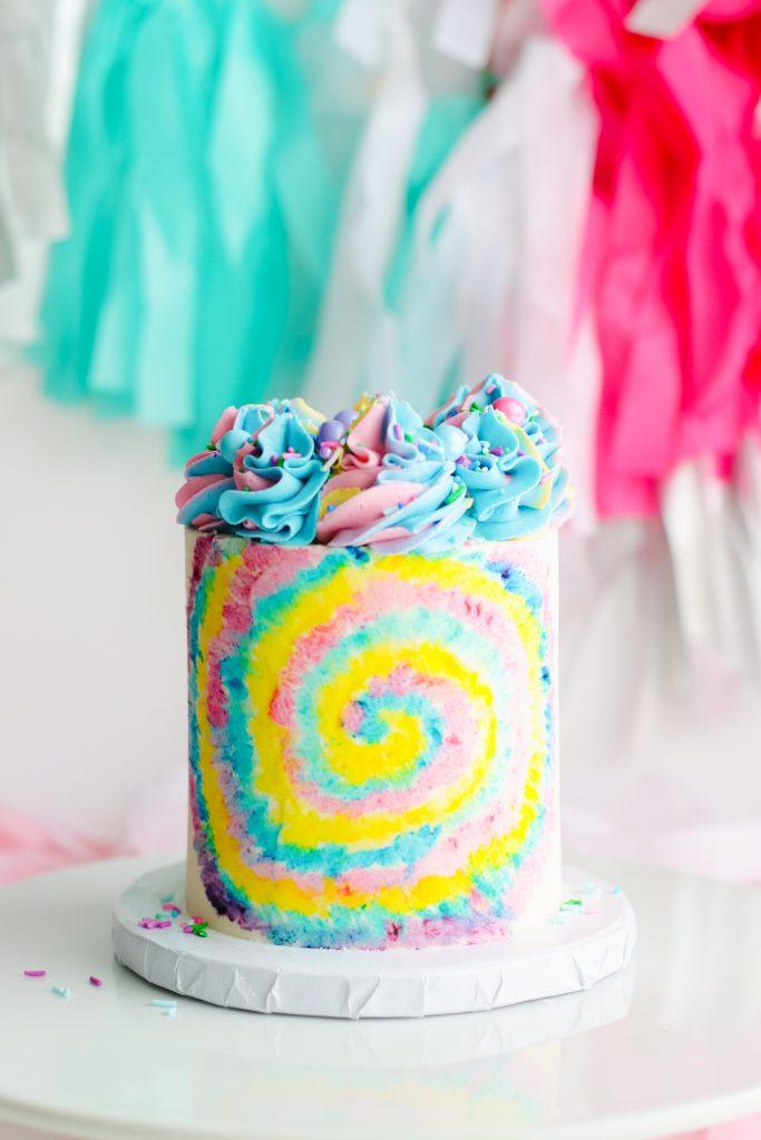 Buttercream Tie Dye Cake