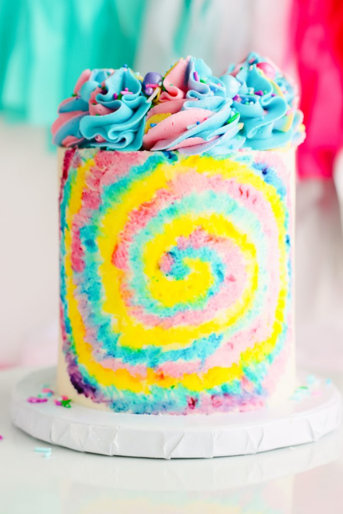 Pastel Tie Dye Cake