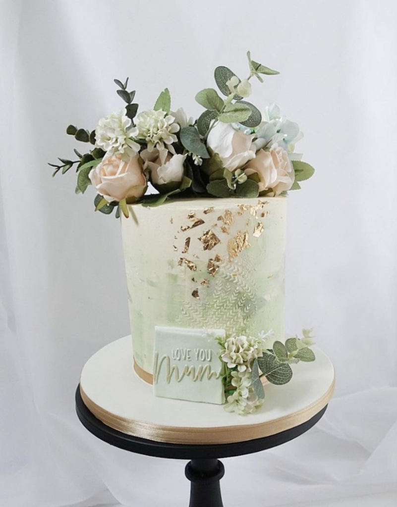 Green Floral Mother's Day Cake