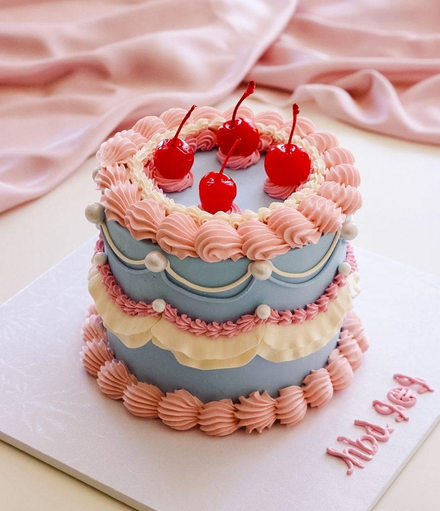 Cherry Lambeth Cake