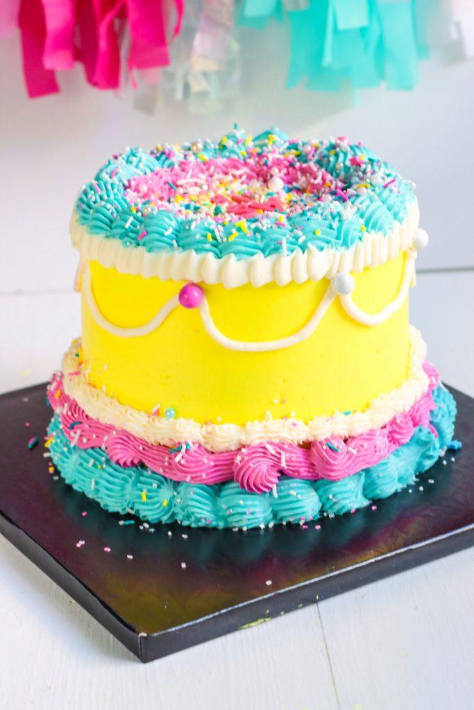 Colorful Vintage Stylish Cake