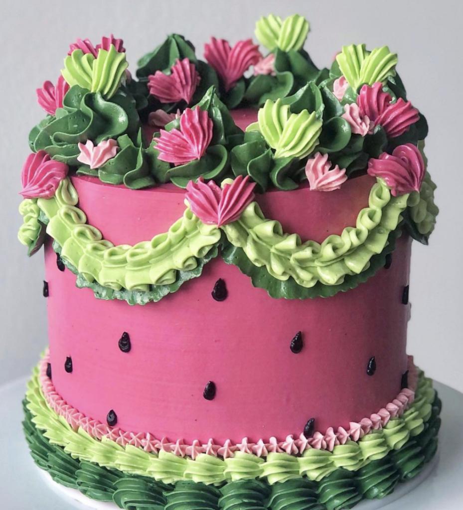 Watermelon Vintage Cake