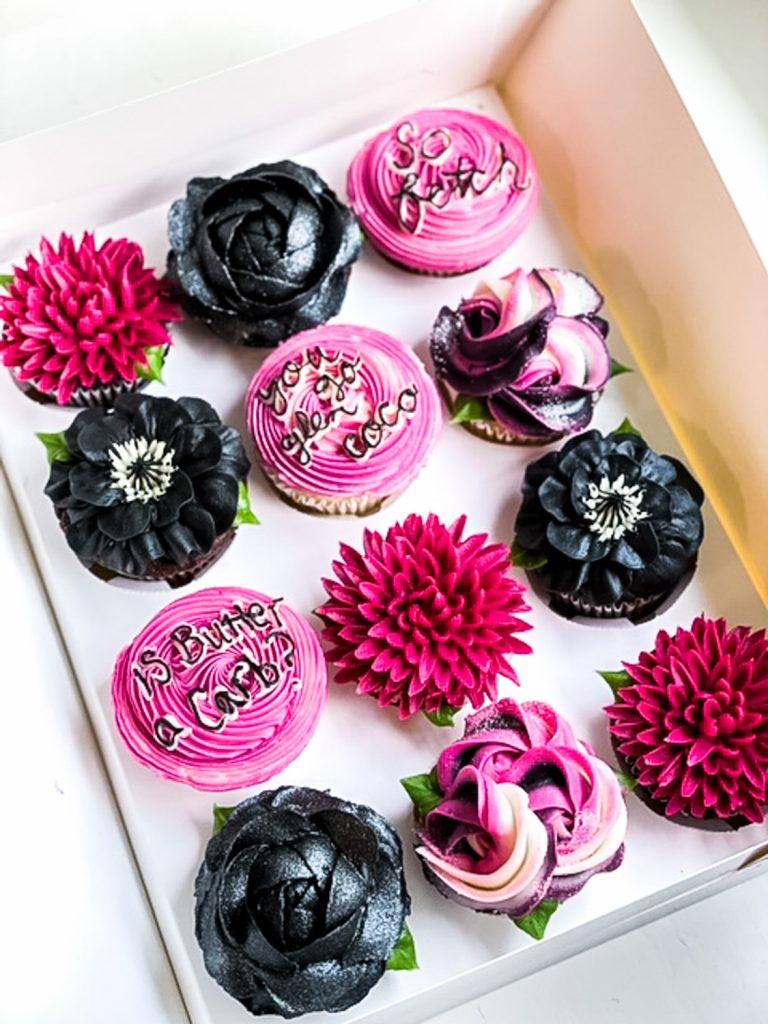 Black & Pink Cupcakes