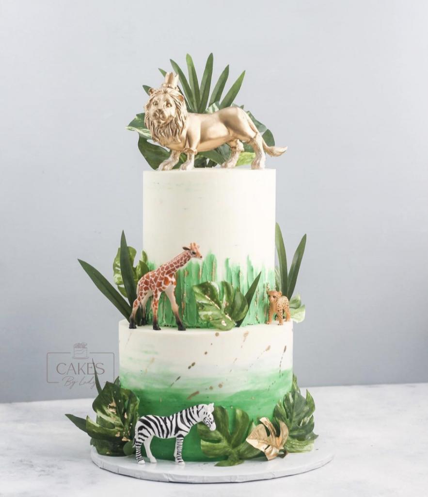 Gorgeous Tiered Safari Cake