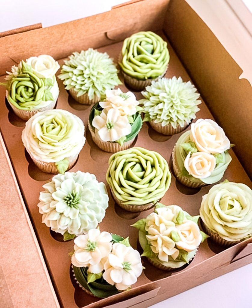 Succulents Cupcakes