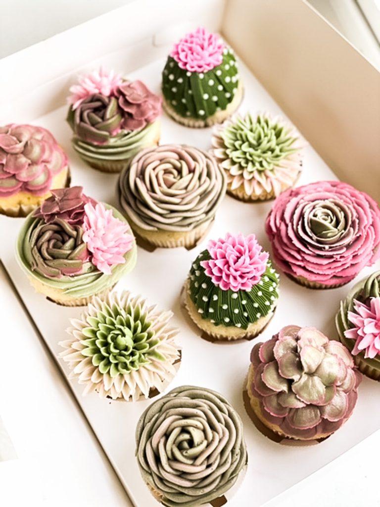 Succulents & Cactus Cupcakes