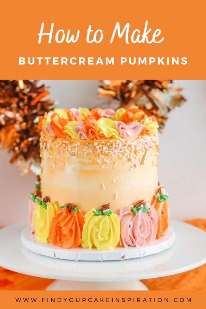 How To Make Buttercream Pumpkins