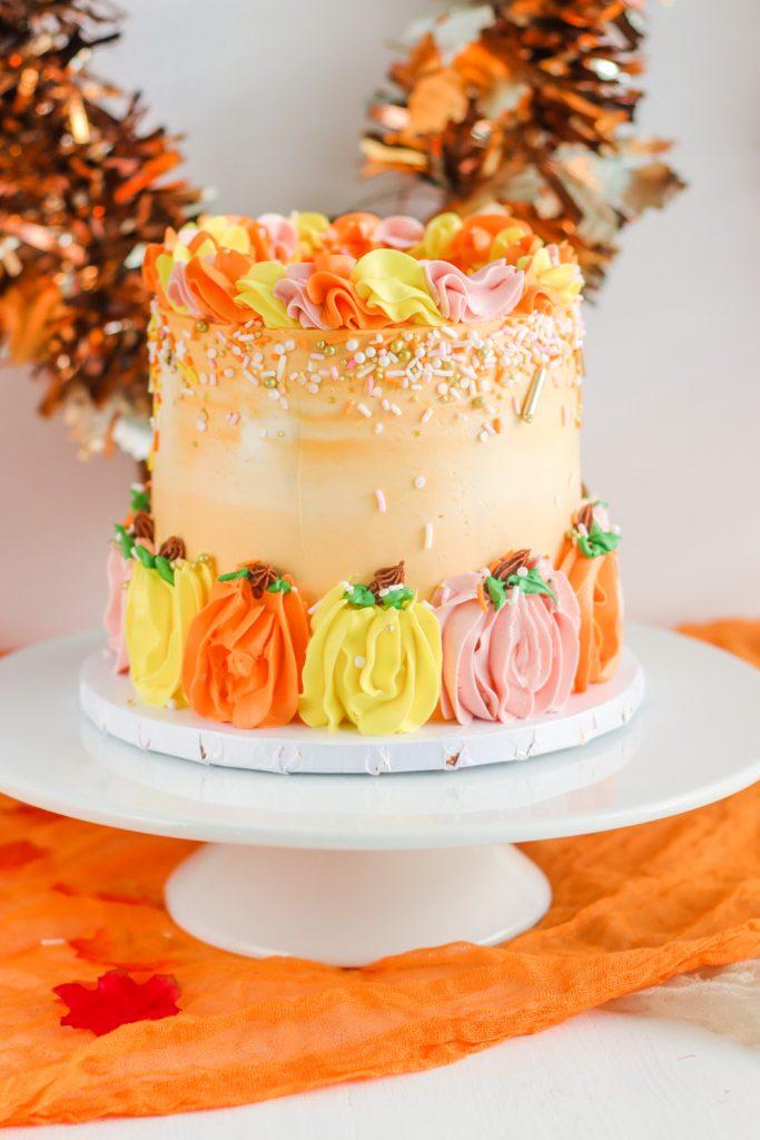 How To Make Buttercream Pumpkins Cake