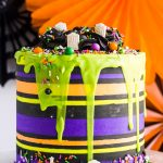 How To Make A Halloween Striped Cake